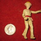 Vintage Miniature Playset figure: Rare Painted Italian Gondolier Boatman