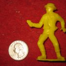 Vintage 1950's Miniature Playset figure: Yellow Sheriff Cowboy w/ Pistol