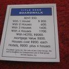 2004 Monopoly Board Game Piece: Boardwalk Title Deed