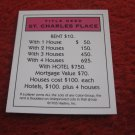 2004 Monopoly Board Game Piece: St. Charles Place Title Deed