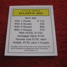 2004 Monopoly Board Game Piece: Atlantic Ave Title Deed