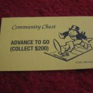 2004 Monopoly Board Game Piece: Advance to GO Community Chest Card
