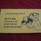 2004 Monopoly Board Game Piece: Go To Jail Community Chest Card