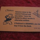 2004 Monopoly Board Game Piece: Advance to Nearest Railroad Chance Card