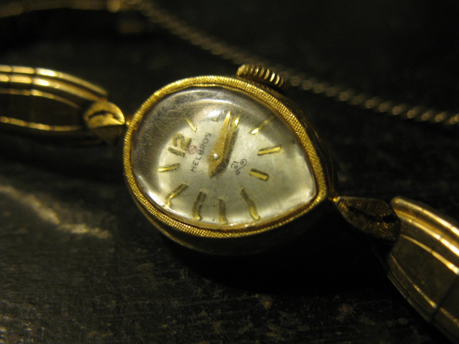 old Helbros 21 jewel Ladies Wrist Watch - w/ Duchess 1/20th 10k Gold Filled Band
