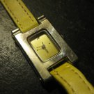 "Ladies ""H"" Shaped yellow band Wrist watch"