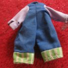 vintage 1980's Strawberry Shortcake Doll clothing accessory: Blue Overalls