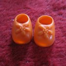 vintage 1980's Strawberry Shortcake Doll clothing accessory: Orange Flower Shoes