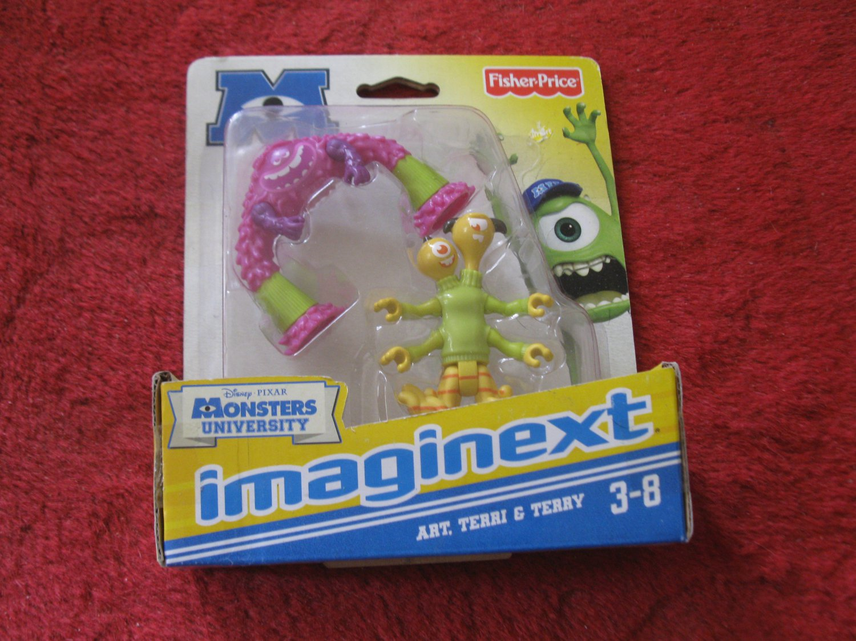 Brand New 2012 Fisher-Price Imaginext Monsters University Figure Set: Art, Terri & Terry