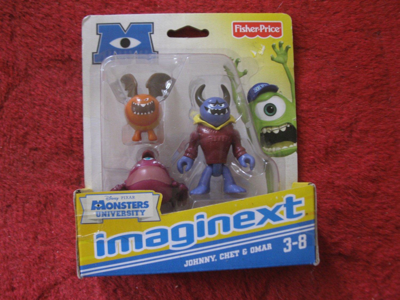 Brand New 2012 Fisher-Price Imaginext Monsters University Figure Set: Johnny, Chet & Omar