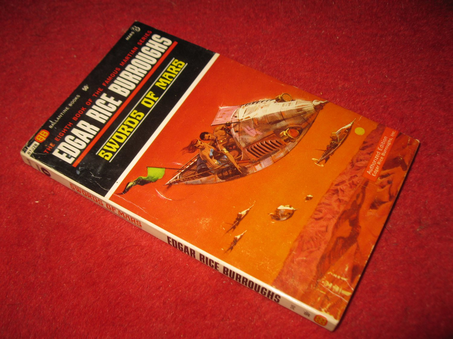 1969 Mars #8: Swords of Mars - by Edgar Rice Burroughs - Ballantine books - paperback