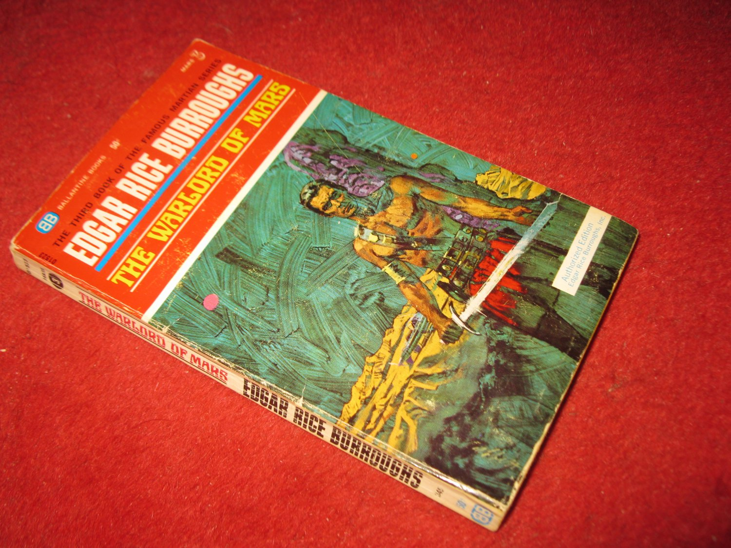 1969 Mars #3: The Warlord of Mars - by Edgar Rice Burroughs - Ballantine books - paperback