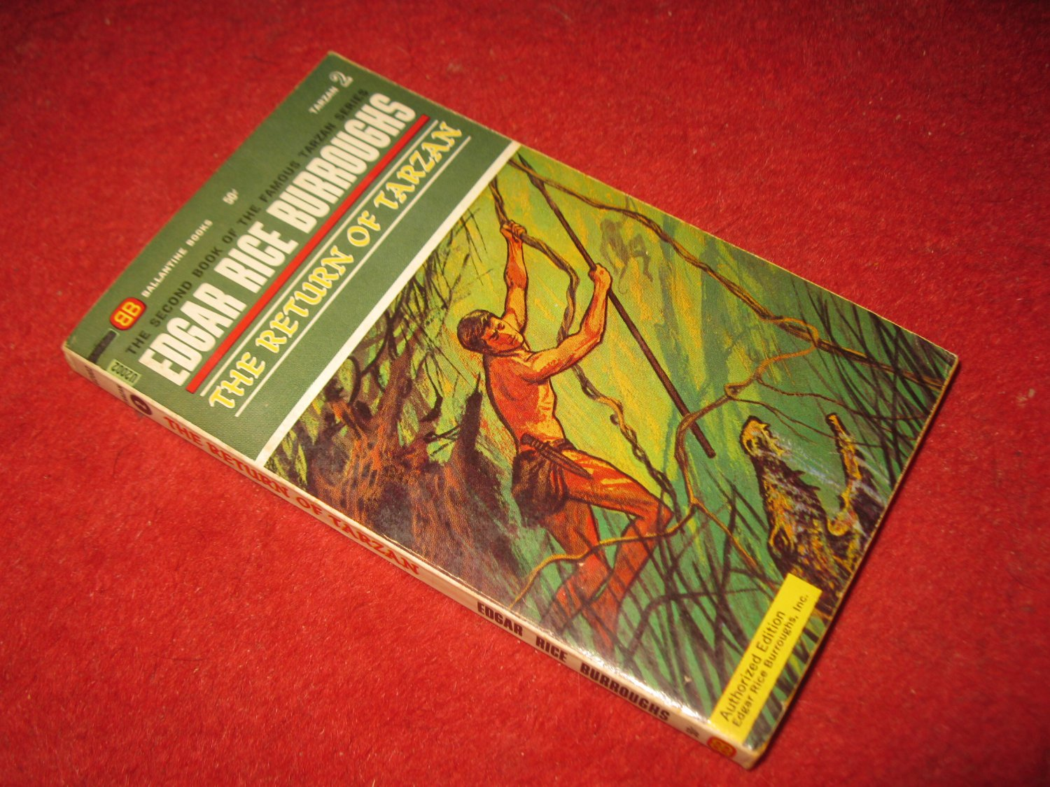 1963 Tarzan #2: The Return of Tarzan - by Edgar Rice Burroughs - Ballantine books - paperback