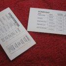 1981 DragonMaster Board game piece: Score Chart card