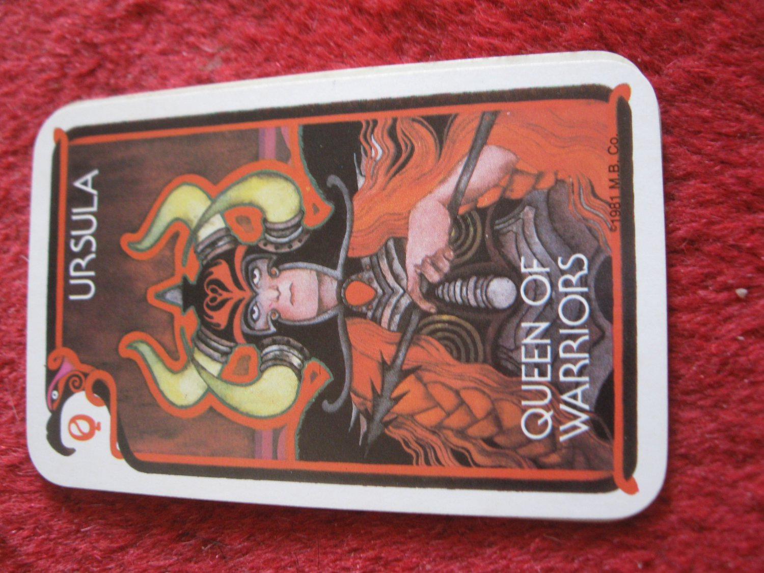 1981 DragonMaster Board game playing card: Ursula, Queen of Warriors