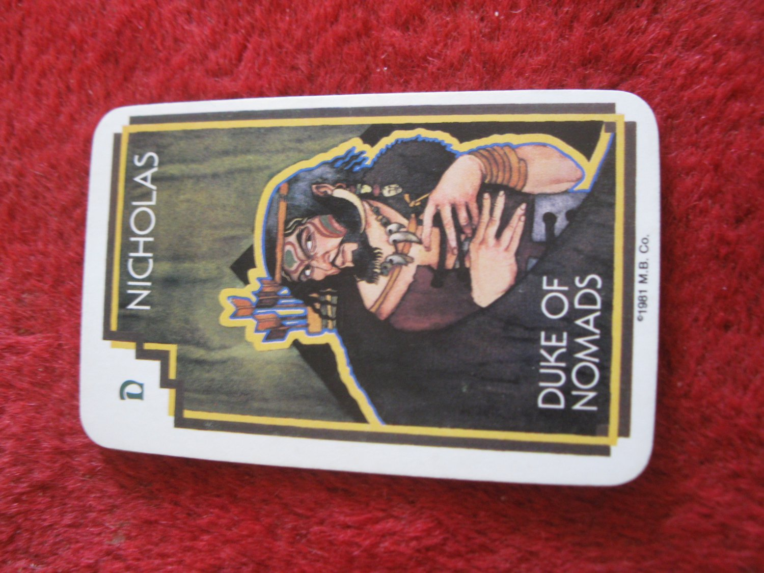 1981 DragonMaster Board game playing card: Nicholas, Duke of Nomads