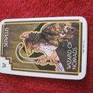1981 DragonMaster Board game playing card: Serpeus, Wizard of Nomads