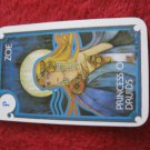 1981 DragonMaster Board game playing card: Zoe, Princess of Druids