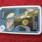1981 DragonMaster Board game playing card: Kajal, Wizard of Druids