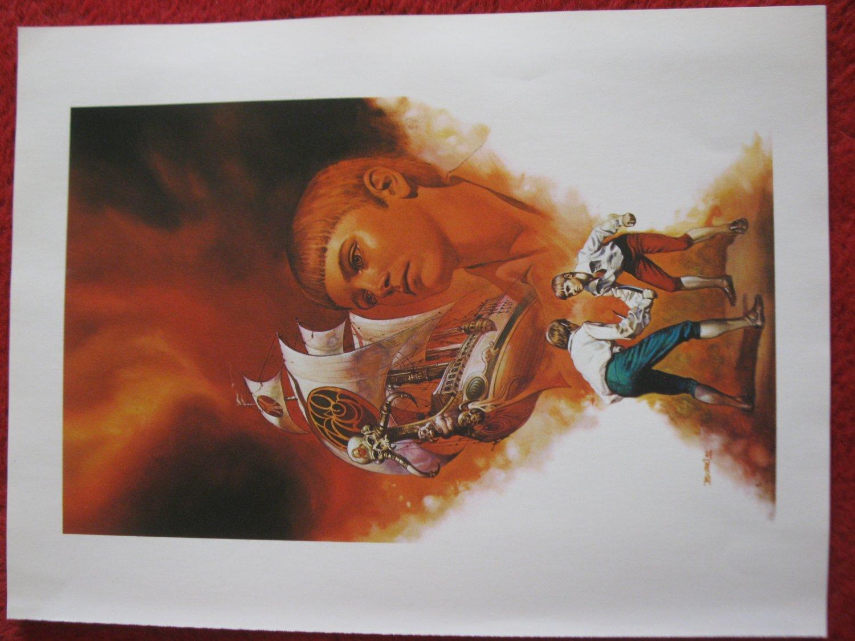 "vintage Boris Vallejo: Steve - 11.5"" x 8.5"" Book Plate Print"