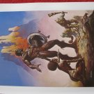 "vintage Boris Vallejo: Nubian Warriors - 11.5"" x 8.5"" Book Plate Print"