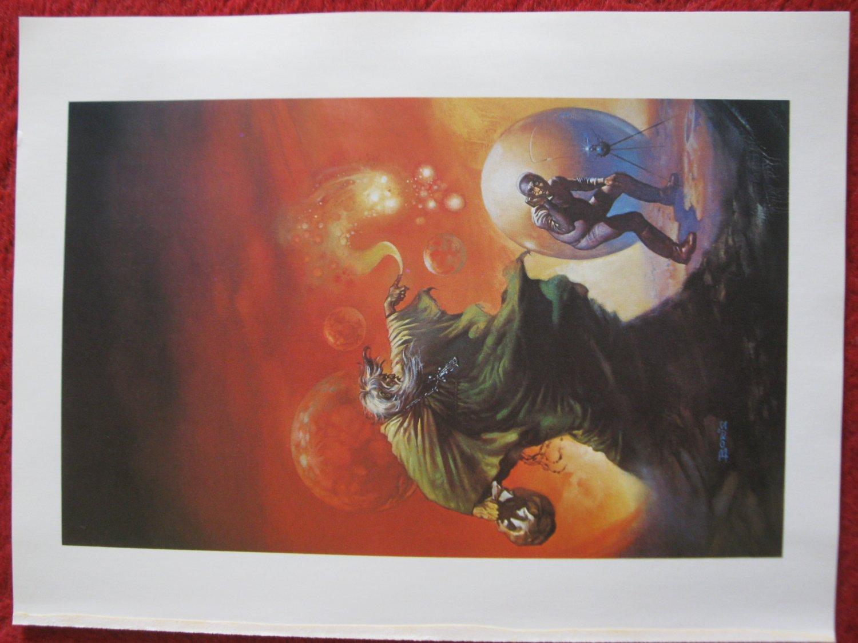 "vintage Boris Vallejo: The Flying Sorceror - 11.5"" x 8.5"" Book Plate Print"