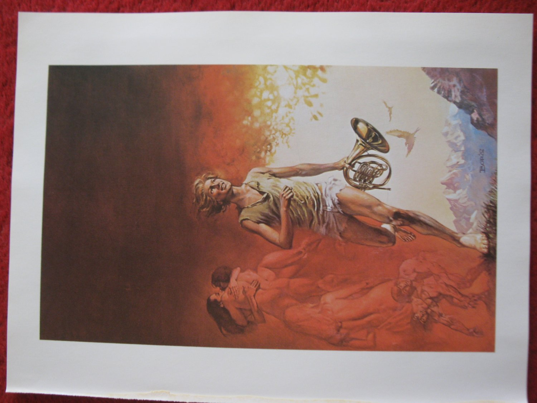 "vintage Boris Vallejo: Davy - 11.5"" x 8.5"" Book Plate Print"