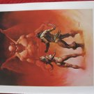 "vintage Boris Vallejo: In the Underworld - 11.5"" x 8.5"" Book Plate Print"