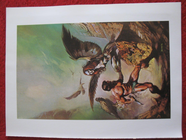 "vintage Boris Vallejo: The Maker of Universes - 11.5"" x 8.5"" Book Plate Print"