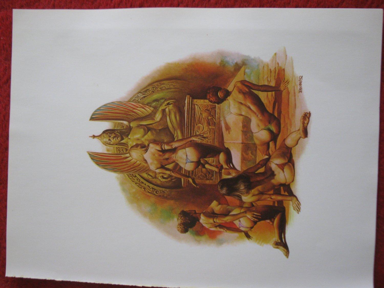 "vintage Boris Vallejo: Haesel the Slave - 11.5"" x 8.5"" Book Plate Print"