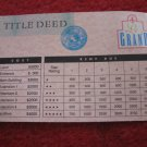 1987 Hotels Board Game Piece: Le Grand Hotel Title Deed