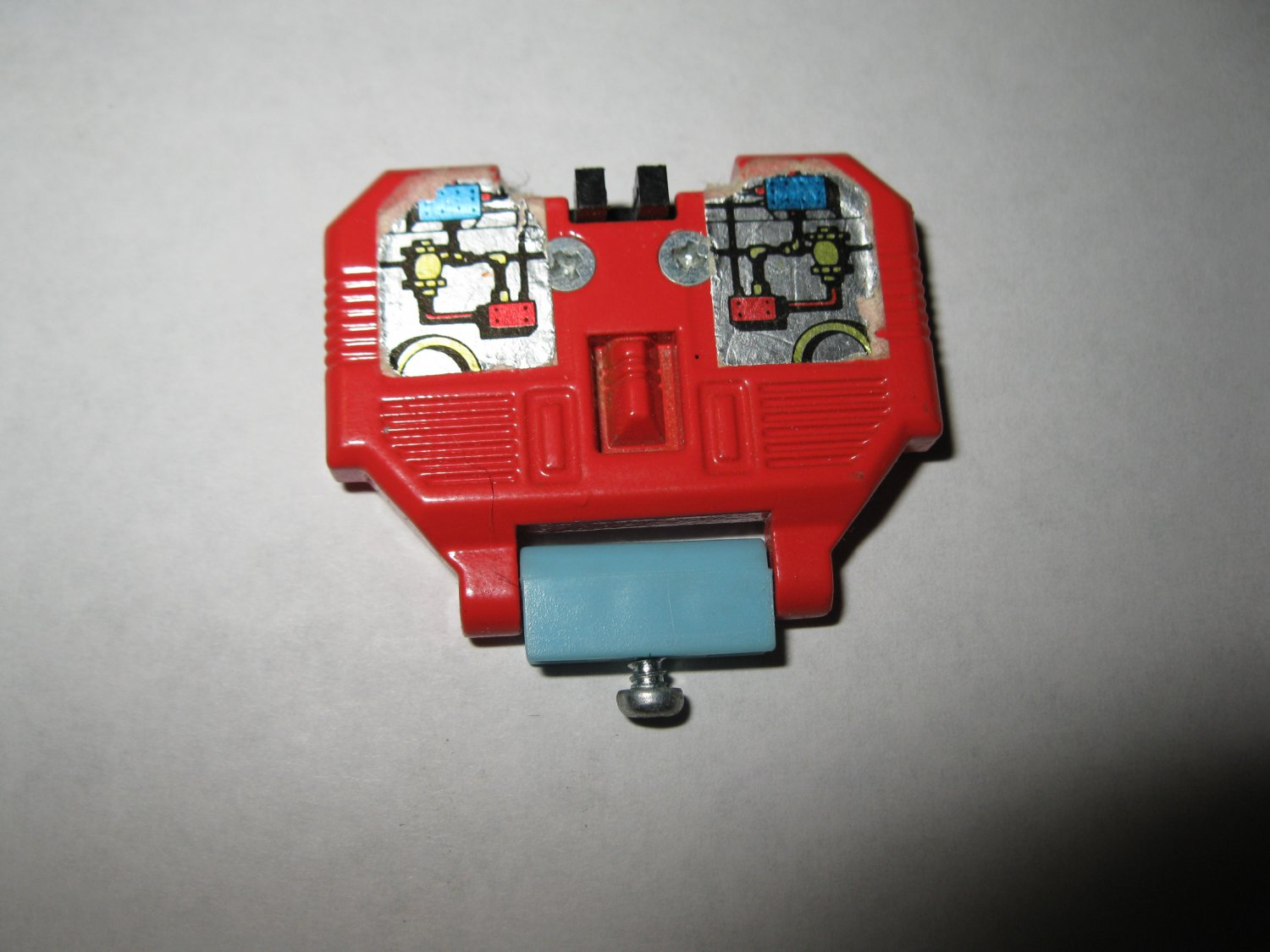 G1 Transformers Action figure part: 1986 Hot Spot - Metal Chest Plate