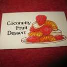 1983 Strawberry Shortcake Housewarming Surprise Board Game Piece: Recipe Card #4