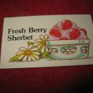 1983 Strawberry Shortcake Housewarming Surprise Board Game Piece: Recipe Card #5