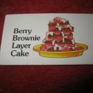 1983 Strawberry Shortcake Housewarming Surprise Board Game Piece: Recipe Card #7