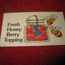 1983 Strawberry Shortcake Housewarming Surprise Board Game Piece: Recipe Card #8