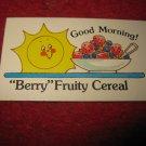 1983 Strawberry Shortcake Housewarming Surprise Board Game Piece: Recipe Card #18