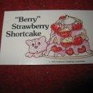 1983 Strawberry Shortcake Housewarming Surprise Board Game Piece: Recipe Card #20
