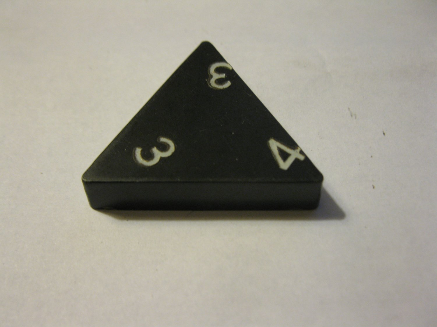 1985 Tri-ominoes Board Game Piece: Triangle # 3-3-4