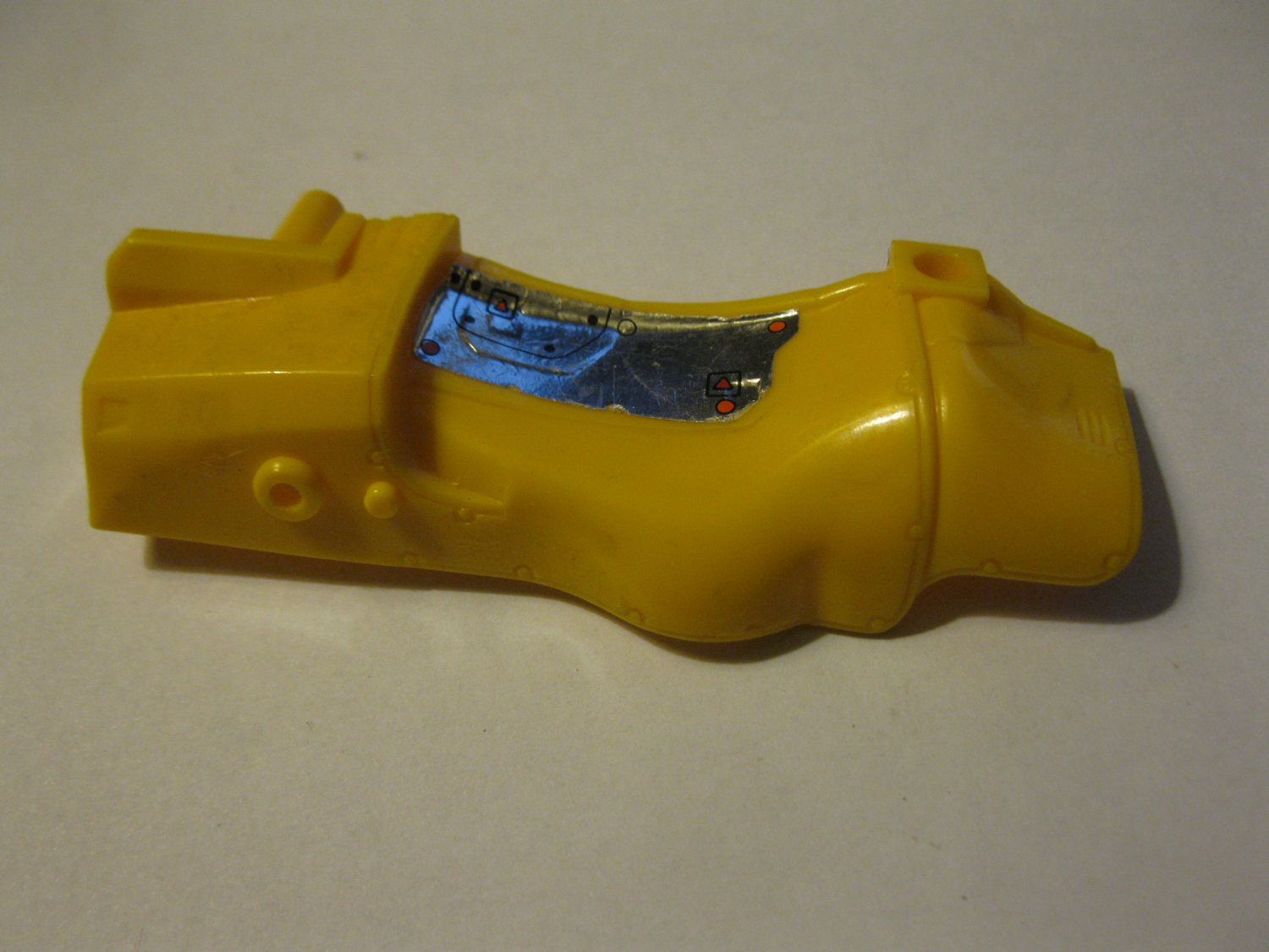 G1 Transformers Action figure part: 1986 Headstrong - Yellow Left Side Body Saddle