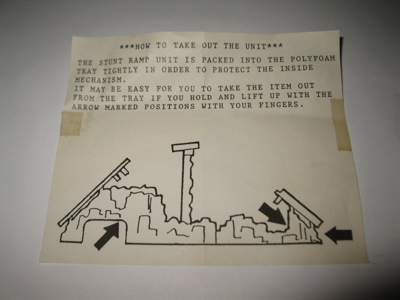 Vintage 1989 Aurora Devil's Ditch Slot Car Playset piece: Instruction Sheet #2
