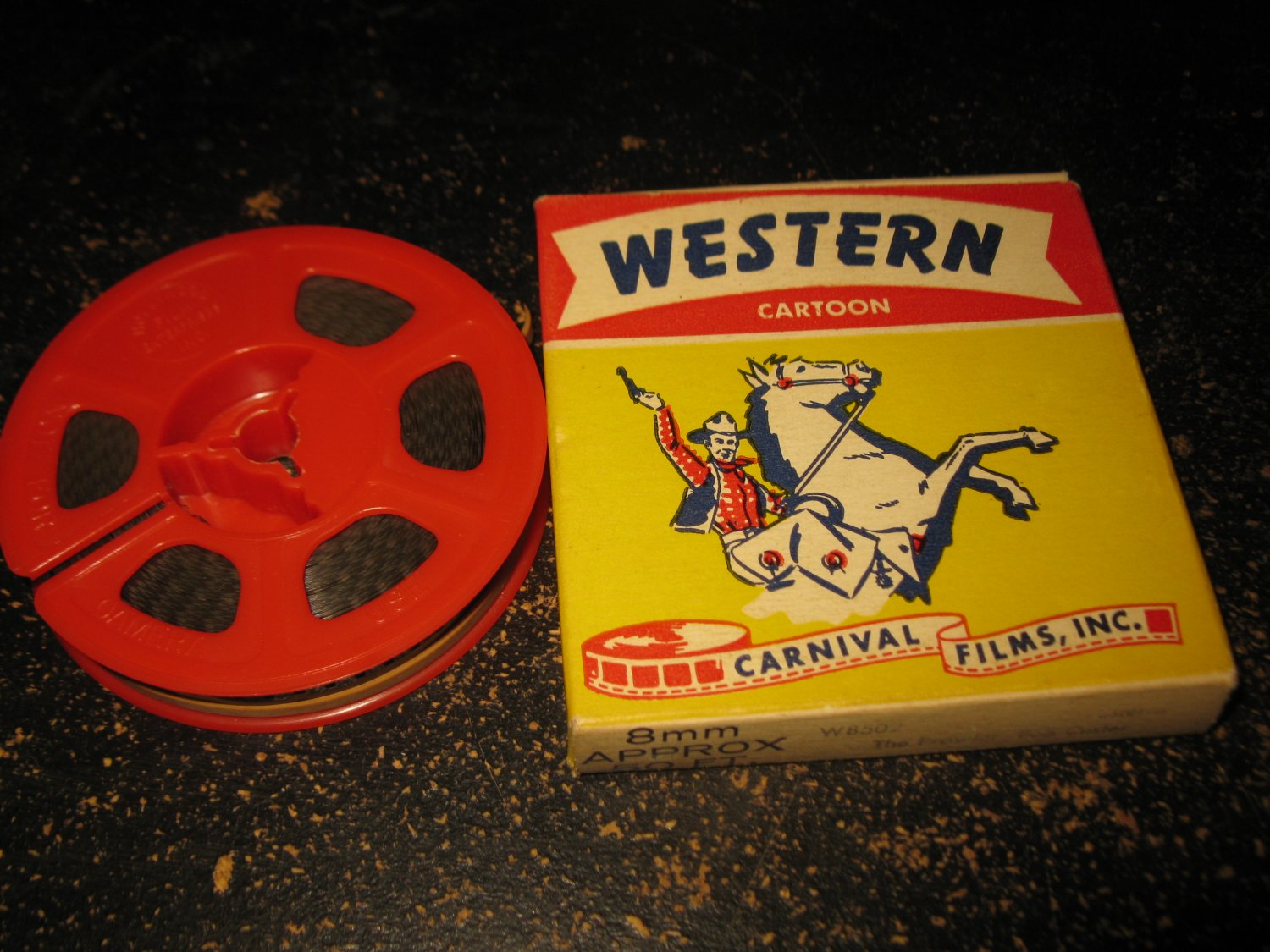 vintage 8mm Reel-to-Reel Movie: Carnival Films Western Cartoon #W8502 - The Prowler Bob Custer