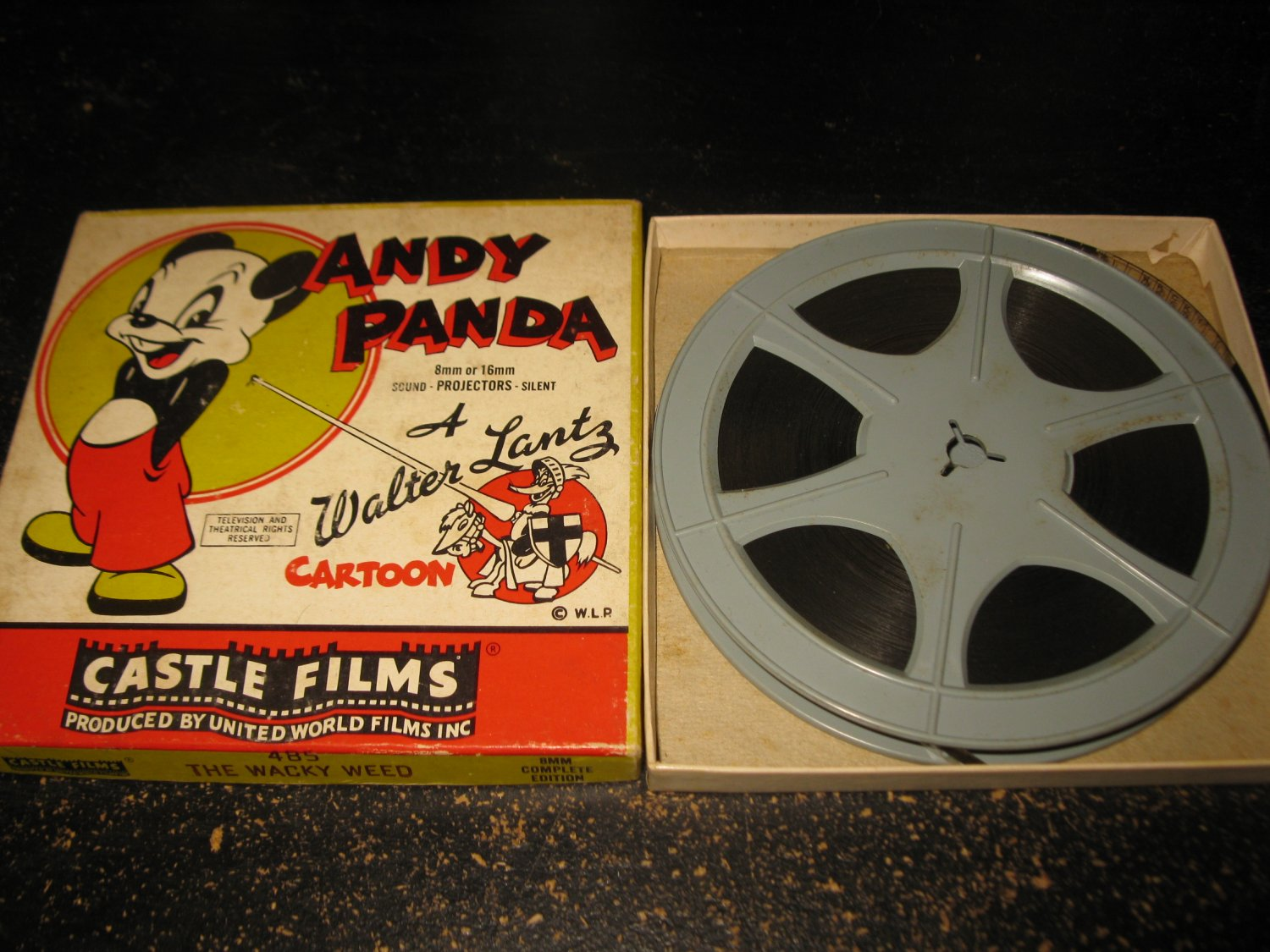 vintage Super 8 8mm Movie: Castle Films #485 - Andy Panda 'The Wacky Weed'