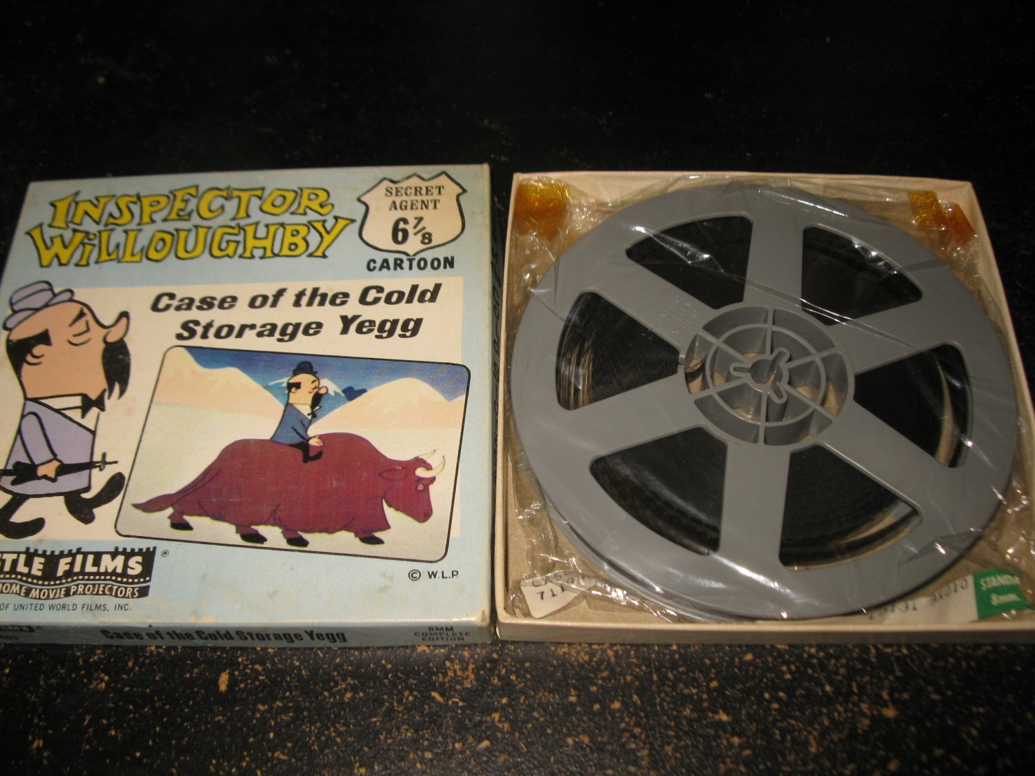 "vintage Super 8 8mm Movie: Castle Films #403 - Inspector Willoughby ""Case of the Cold Storage Yegg'"