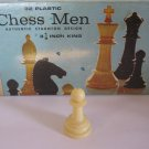 1969 Chess Men Board Game Piece: Authentic Stauton Design - White Pawn
