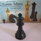 1969 Chess Men Board Game Piece: Authentic Stauton Design - Black King