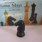 1969 Chess Men Board Game Piece: Authentic Stauton Design - Black Knight