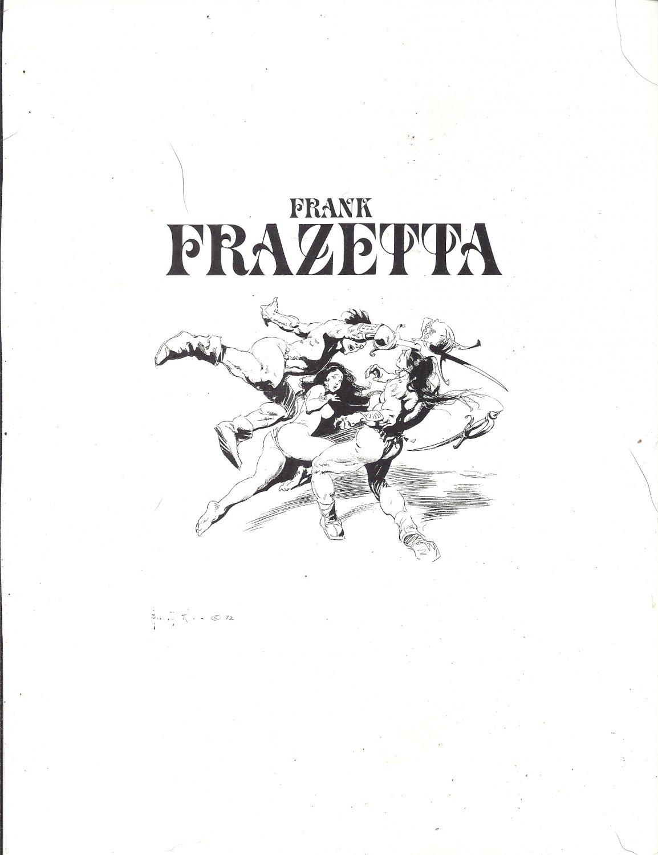 "vintage Frank Frazetta 11"" x 9"" Book Plate Print - Frank Frazetta"