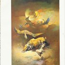 "vintage Frank Frazetta 11"" x 9"" Book Plate Print - Flying Reptiles"