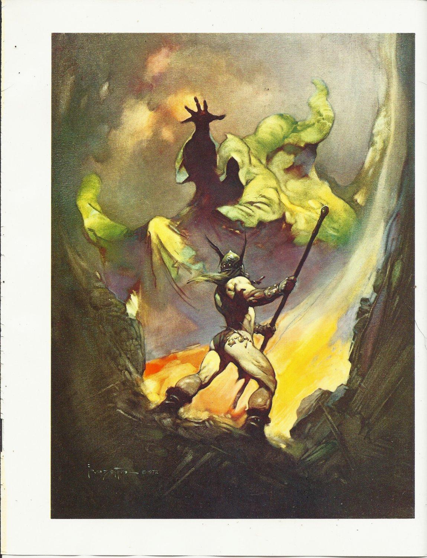 "vintage Frank Frazetta 11"" x 9"" Book Plate Print - The Norseman"